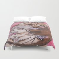 smoke Duvet Covers featuring Smoke by Amy V