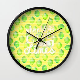 when life gives you limes Wall Clock