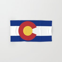 Blue Red and Gold Flag of Colorado Hand & Bath Towel