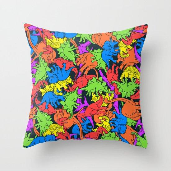 Tetrisaurus Throw Pillow