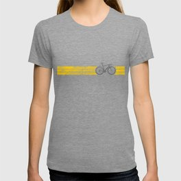 Yellow Jersey Overall Champ Bike Race Cycling Silver T-shirt