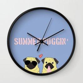 Summer Puggin Wall Clock
