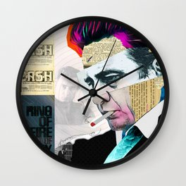Johnny Cash - The Man In Black Wall Clock