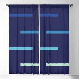 Abstract Minimal Retro Stripes Surf Blackout Curtain