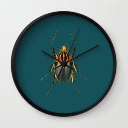 Turquoise Bug Public Domain Art and Decor Wall Clock