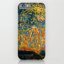 Colorful Summer Fireworks in Nice, France landscape by Nicolai Tarkoff iPhone Case