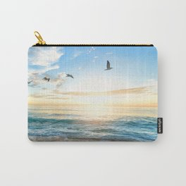 Blue Sky with Birds Carry-All Pouch