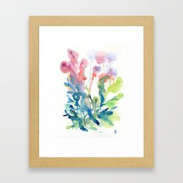 fresh flower art Framed Art Print