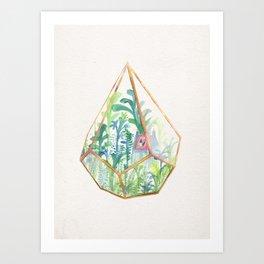 Terrarium Garden II Art Print