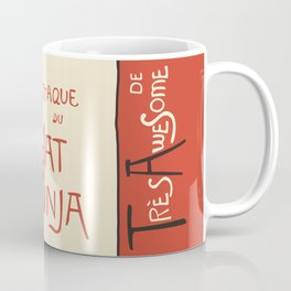 A French Ninja Cat (Le Chat Ninja) Coffee Mug
