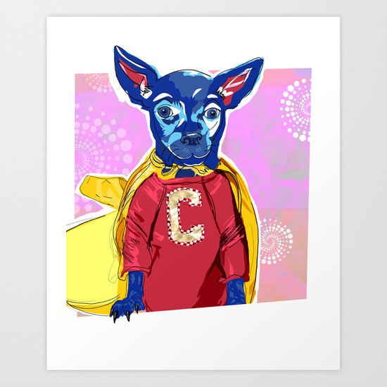 Cyrus The Superhero  Art Print