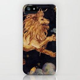 Zodiac sign Leo iPhone Case