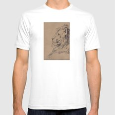 Lion Profile Mens Fitted Tee White MEDIUM