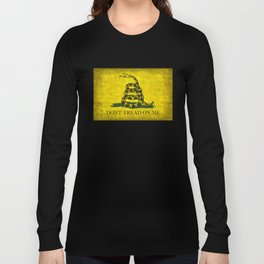 Gadsden Don't Tread On Me Flag - Worn Grungy Long Sleeve T-shirt