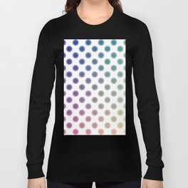 Ombre cyber atomic flower science print Long Sleeve T-shirt