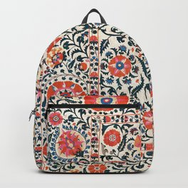 Shakhrisyabz Suzani  Uzbekistan Antique Floral Embroidery Print Backpack