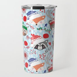 Christmas animal smiles Travel Mug