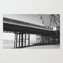 Blackpool Pier and big Wheel Rug