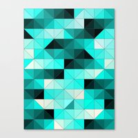 teal Canvas Prints featuring Teal by Hannah
