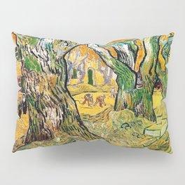 Road Works at Saint-Remy by Vincent van Gogh Pillow Sham