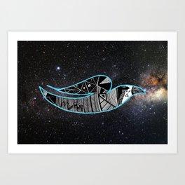 Rain Bird in Space Art Print
