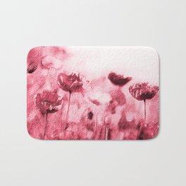Crimson Poppies Bath Mat