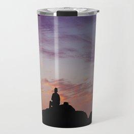 Man Enjoying Sunset II Travel Mug