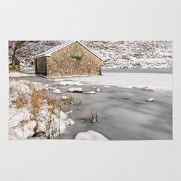 Frozen Lake Snowdonia Rug