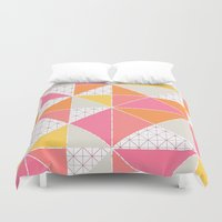 girly Duvet Covers featuring Girly Geometry by micklyn