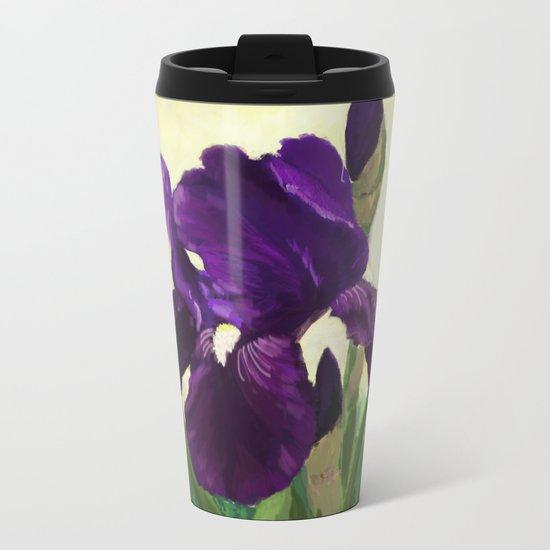 Purple Iris DP150530 Metal Travel Mug
