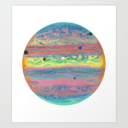 Triple Eclipse on Jupiter Art Print