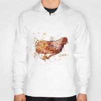 chicken Hoodies featuring Chicken by libby's art studio