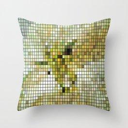 Pale Yellow Poinsettia 1 Mosaic Throw Pillow