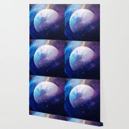 Galaxy Moon Space Wallpaper