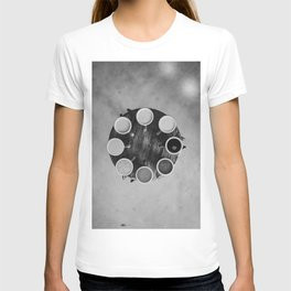 Coffee Circle (Black and White) T-shirt