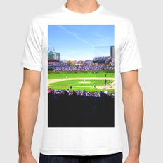 Wrigley Field MEDIUM Mens Fitted Tee White