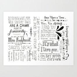 Swans Necks Art Print