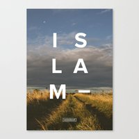 islam Canvas Prints featuring Islam- Poster by Canvas Dawah