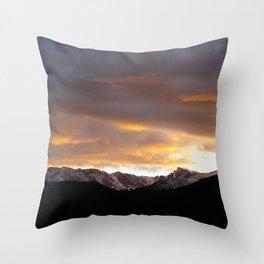 Sunset on Trail Ridge 3 Throw Pillow