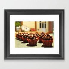 mini cupcakes Framed Art Print