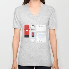 Happy Mail - Kawaii Post Unisex V-Neck