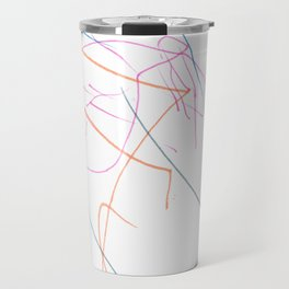 Pink, orange and blue lines Travel Mug