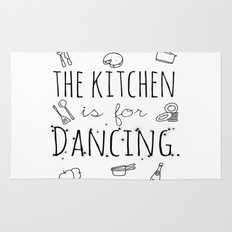 The Kitchen Is For Dancing  Rug