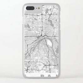 St Paul Map Line Clear iPhone Case