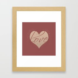 Love love Framed Art Print