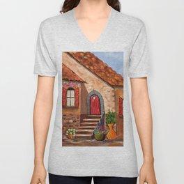 Tuscan Farmhouse Unisex V-Neck
