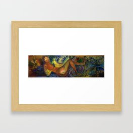 psychedelic woman 2 Framed Art Print