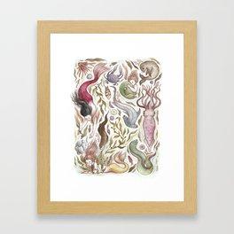 Mermaids and Sea Creatures Framed Art Print