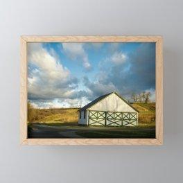 Aging Barn in the Morning Sun Rural Landscape Photograph Framed Mini Art Print