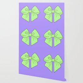 Spring Green Vector Bow Wallpaper